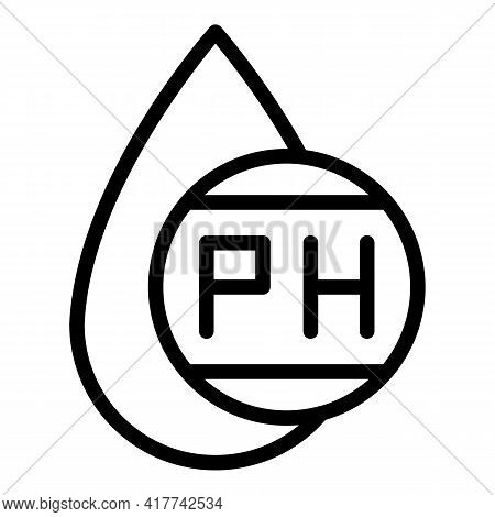 Neutral Ph Drop Icon. Outline Neutral Ph Drop Vector Icon For Web Design Isolated On White Backgroun