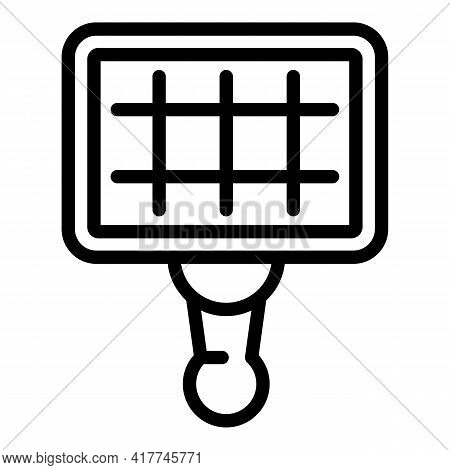 Grill Net Icon. Outline Grill Net Vector Icon For Web Design Isolated On White Background