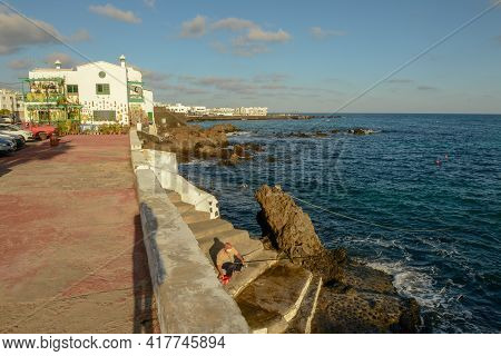 The Village Of Punta Mujeres On Lanzarote Island In Spain