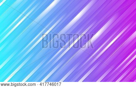 Abstract Colorful Striped Vector Background With Purple And Blue Three Dimensional Shapes. Colored G