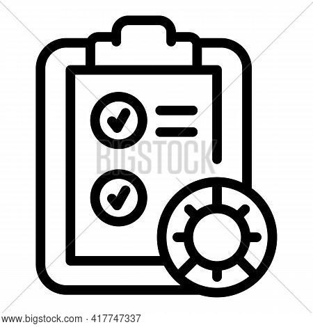 Test Clipboard Icon. Outline Test Clipboard Vector Icon For Web Design Isolated On White Background