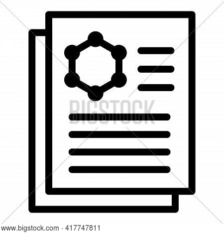 Medical Result Icon. Outline Medical Result Vector Icon For Web Design Isolated On White Background