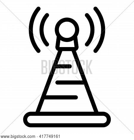 Internet Signal Icon. Outline Internet Signal Vector Icon For Web Design Isolated On White Backgroun