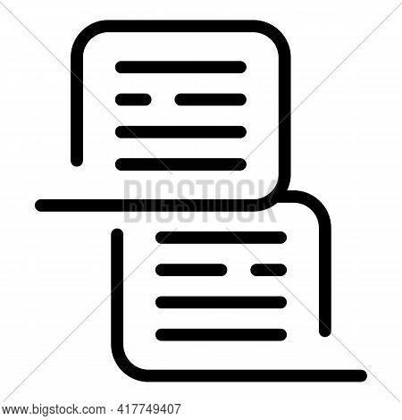 Online Conversation Icon. Outline Online Conversation Vector Icon For Web Design Isolated On White B