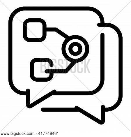Safe Chatting Icon. Outline Safe Chatting Vector Icon For Web Design Isolated On White Background