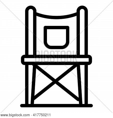 Safari Chair Icon. Outline Safari Chair Vector Icon For Web Design Isolated On White Background