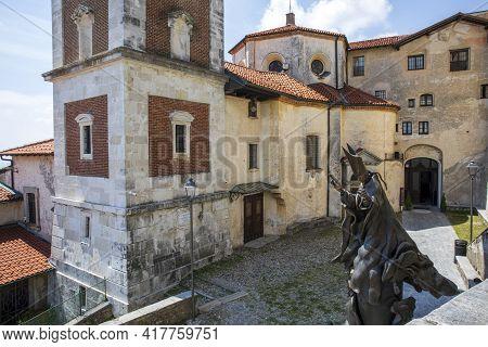 Sacro Monte (va), Italy - June 01, 2020: The Church At Pilgrimage Village Of Santa Maria Del Monte O