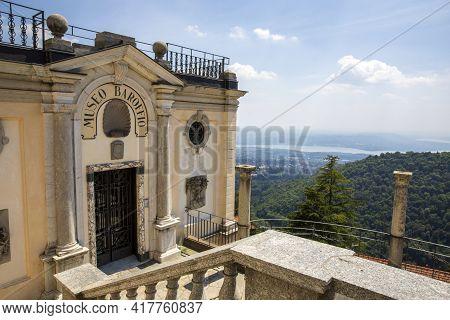 Sacro Monte (va), Italy - June 01, 2020: Museum Baroffio Gate At Pilgrimage Village Of Santa Maria D