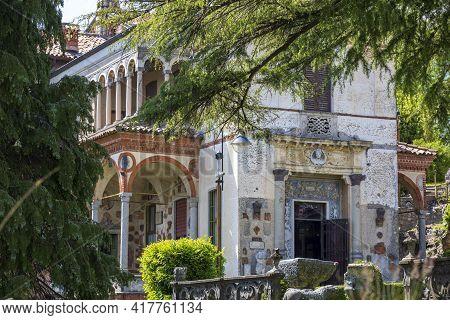 Sacro Monte (va), Italy - June 01, 2020: Lodovico Pogliaghi Museum At Pilgrimage Village Of Santa Ma