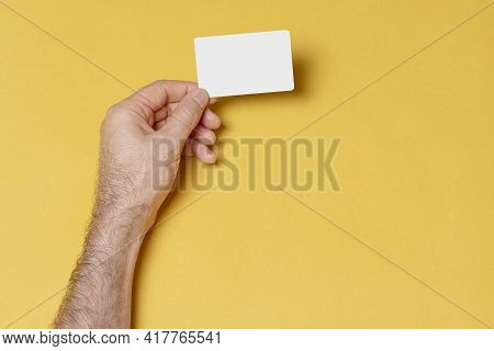 Business Visit Card In Male Hand, Editable Psd Mock-up Series With Smart Object Layers Ready For You