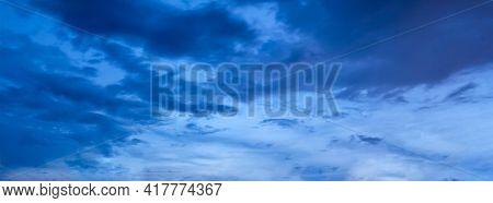 Night twilight dusk evening sky with clouds