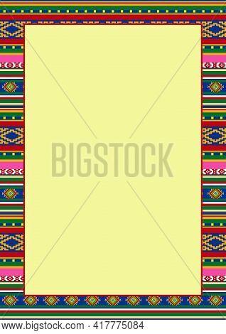 Design Template For Mexican Restaurant Menu, Cinco De Mayo Fiesta Invitation, Greeting Card. Bright