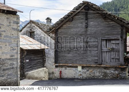 Canza (vco), Italy - June 21, 2020: Canza Village, Formazza Valley, Ossola Valley, Vco, Piedmont, It