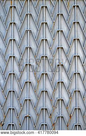 Abstract Zigzag Metal Welding Construction, Modern Weld Industry Diversity