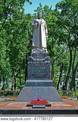 Kiev, Ukraine - Jun 10,2020: Famous Soviet Military Leader, Hero Of The Soviet Union Nikolai Vatutin