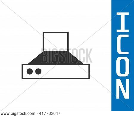 Grey Kitchen Extractor Fan Icon Isolated On White Background. Cooker Hood. Kitchen Exhaust. Househol