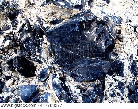 The Obsidian - The Black Stone In Mountains Of Mexico