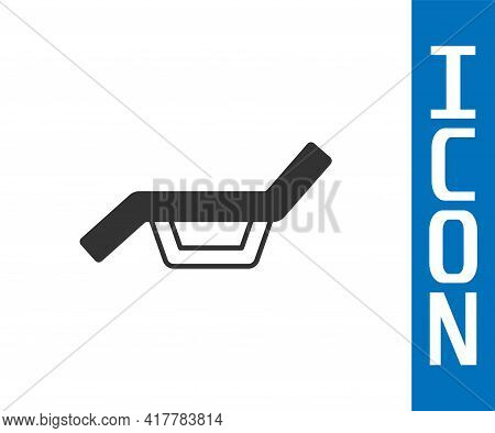 Grey Sunbed Icon Isolated On White Background. Sun Lounger. Vector