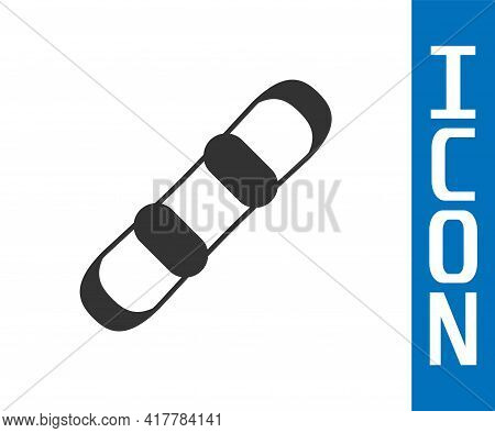Grey Snowboard Icon Isolated On White Background. Snowboarding Board Icon. Extreme Sport. Sport Equi