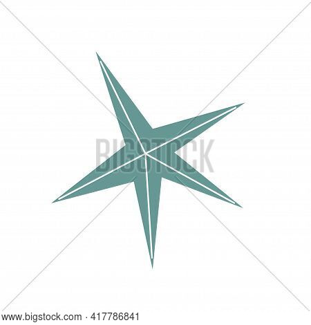 Beautiful Starfish On An Isolated Background. Marine Life In The Sea And Akean Life. Vector Illustra
