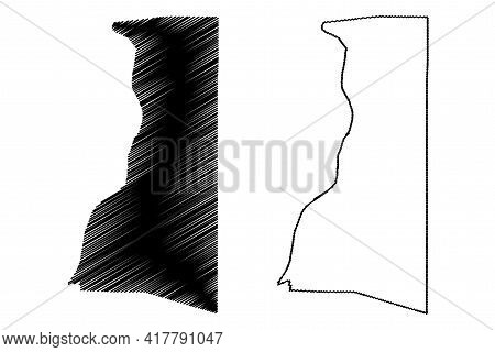 Brooke County, State Of West Virginia (u.s. County, United States Of America, Usa, U.s., Us) Map Vec