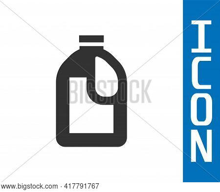 Grey Plastic Bottle For Laundry Detergent, Bleach, Dishwashing Liquid Or Another Cleaning Agent Icon