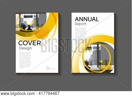 Cover Yellow Circle  Abstract Background Modern Design Modern Book Cover Brochure Cover  Template,an