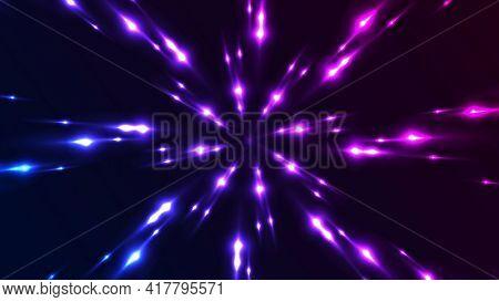Blue and purple neon glowing pattern