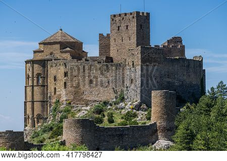 Castle Of Loarre Is A Romanesque Castle And Abbey Located In The Aragon Autonomous Region Of Spain.