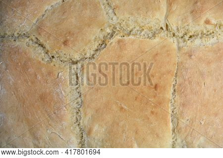 Close Up Of Homemade Bread - Crust Detail