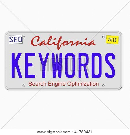 Keywords On License Plate