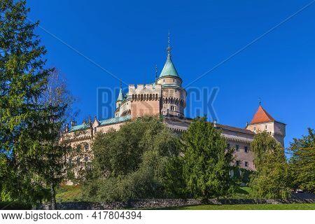 Bojnice Castle Is A Medieval Castle In Bojnice, Slovakia. It Is A Romanesque Castle With Some Origin
