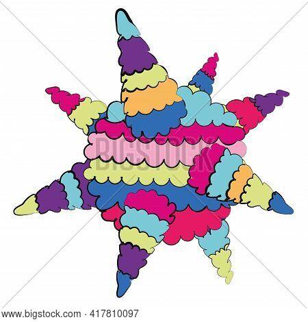 Isoalted Star Mexican Pinata. Cinco De Mayo - Vector
