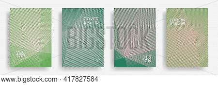 Hexagonal Halftone Pattern Cover Pages Vector Graphic Design. Hexagon Lines Texture Patterns. Party