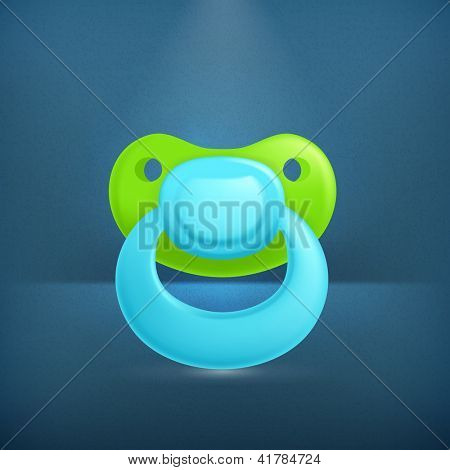 Pacifier, vector icon