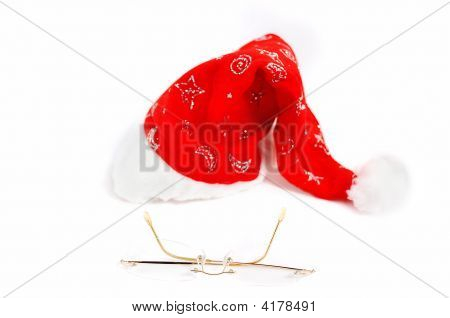 Hat And Glasses From Santa Claus