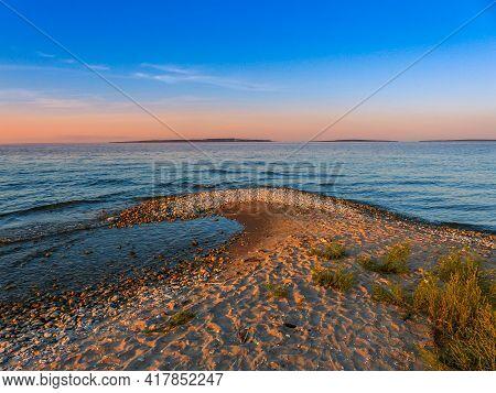 Sunset On Lake Michigan - Mackinaw City - Michigan