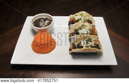 Authentic Tex Mex Mexican Cuisine Known As A Tacos Al Pastor