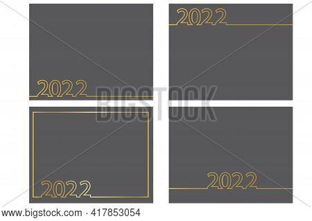 Cover Design With Postcards 2022 For Concept Design. Poster, Postcard, Banner. Vector Illustration.