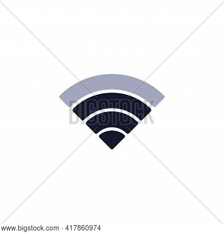 Wi-fi Signal Strength Flat Icon, Mobile Phone Wifi Signal Vector Sign, Colorful Pictogram Isolated O