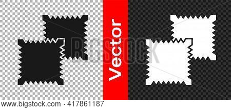 Black Textile Fabric Roll Icon Isolated On Transparent Background. Roll, Mat, Rug, Cloth, Carpet Or