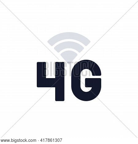 4g Network Connection Flat Icon, 4g Signal Indicator Vector Sign, Colorful Pictogram Isolated On Whi