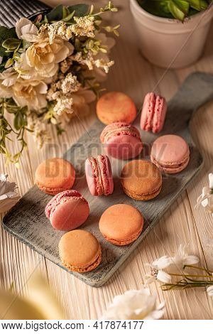 French Almond Macarons, Airy And Flavorful Sandwich Cookies