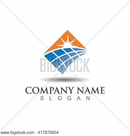 Sun Tech Solar Energy Logo Design. Solar Tech, Idea Logo Design Template