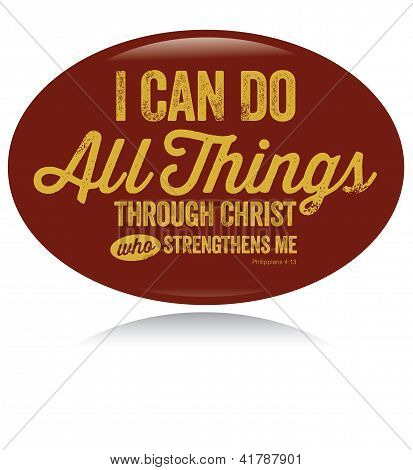 Vintage Christian design - I can do all things