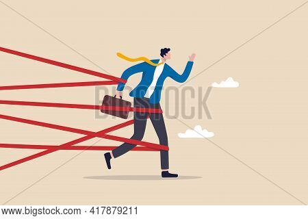 Business Difficulty Or Struggle With Career Obstacle, Limitation And Trap Or Challenge To Overcome T