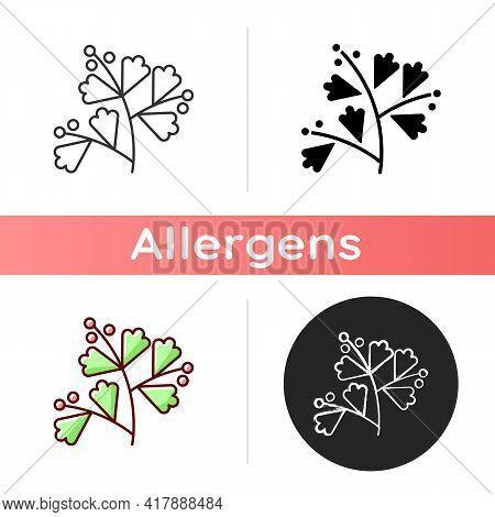 Sagebrush Icon. Aromatic Leaves. Medicinal Herbs. Cause Of Allergic Reaction. Seasonal Pollen Allerg