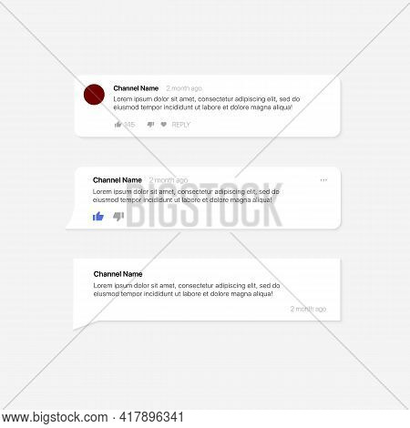 Social Media Text Bubbles. Set Of Modern Comment Bubbles, Bubble Template. Vector Illustration