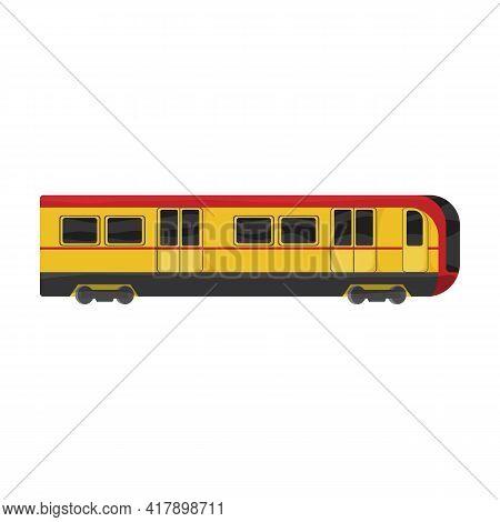 Subway Train Cartoon Vector Icon.cartoon Vector Illustration Cargo. Isolated Illustration Of Subway