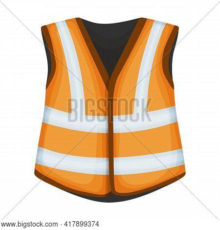 Vest Safety Cartoon Vector Icon.cartoon Vector Illustration Safety Jacket. Isolated Illustration Of
